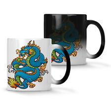 Beautifull Blue Dragon China Lovers Colour changing 11oz Mug y106w