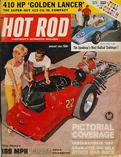 HOT ROD AUG 1962,INDY 500,CHARLOTTE 600 STOCK CAR RACE,AUGUST,HOTROD MAGAZINE