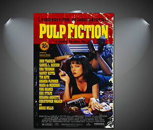 Pulp Fiction Vintage Movie Poster - A1, A2, A3, A4 sizes