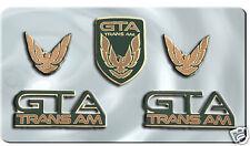 NEW 91-92 GTA Trans Am Emblem 5pc Set (DARK GREEN)