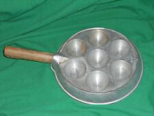 vtg Ebleskiver Iron Apple Pancake Balls Nordic Northland Aluminum Products Pan