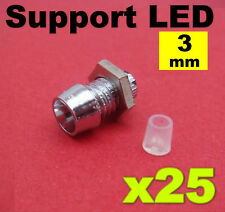 954/25# Support LED 3mm imitation chrome 25pcs