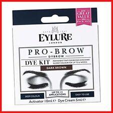 Eylure Pro Brow Dybrow Dye Kit Cream Long Lasting Dark Brown Glossy Safe Use