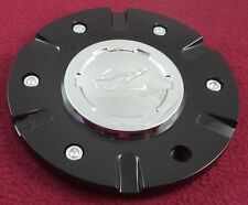 Zinik Wheels Gloss Black / Chrome Custom Wheel Center Cap # Z-9 / CAP-Z090 (1)