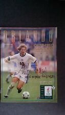 SIGNED/AUTOGRAPHED Michelle Akers 1996 Atlanta Olympic Soccer Program USWNT