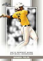 """BRANDON FIELDS 2019 """"1ST EVER PRINTED"""" LEAF PERFECT GAME NIKE ROOKIE CARD #18!"""