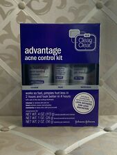 CLEAN & CLEAR ADVANTAGE ACNE CONTROL 3 STEP KIT EXP 1/19 BOXED AND SEALED