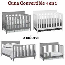 Cuna Convertible 4 en 1 Para Bebes Marco De Madera Cama Moderna Para Niños