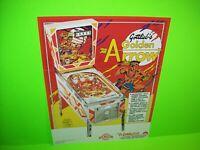 Golden Arrow Pinball Machine FLYER Original Gottlieb Game Artwork Ready To Frame