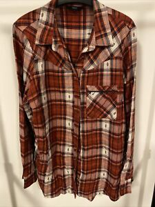 Next Ladies Red Check Shirt Size 18
