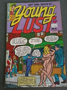 YOUNG LUST NO.2. 1971 BILL GRIFFITH/ PRINT MINT SEXPLOITATION COMICS FIRST PRINT