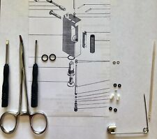 Service / Repair KIT w/TOOLS For 2 vintage dunhill rollagas lighters (+1 Spring)
