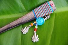 FUNKY wooden HAIR STICK PICK PIN cute beads Dingle Dangle Sono wood handmade new