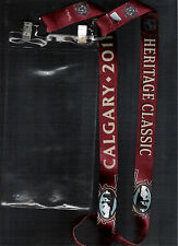 2011 CALGARY FLAMES HERITAGE CLASSIC LANYARD TICKET HOLDER MONTREAL CANADIENS