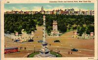 New York City Columbus City and Central Park Vintage Postcard AU1