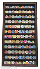 Military Challenge Coin Casino Poker Chip Display Case/Holder  Cabinet  Coin2-MA