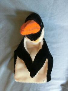 STEIFF HAND PUPPE PINGUIN mit KNOPF  21 cm