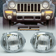 For 2002 2003 2004 Jeep Liberty Replacement Fog Light Housing Assembly Clear L&R