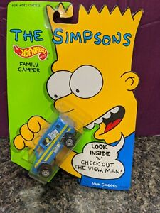 Vintage 1990 Mattel Hot Wheels The Simpsons Family Camper SEALED