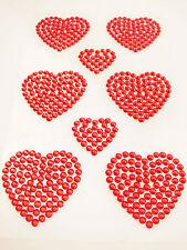 Diamante Heart Shape Stick On Party Wedding Card Venue Window Decoration Sticker