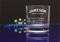 Personalised JAMESON logo engraved whisky glass/Birthday,Christmas,Father' Day58