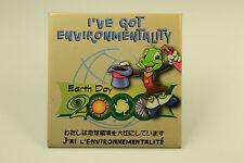 Disney Earth Day 2000 Jiminy Cricket I've Got Environmentality Pin Back Pin