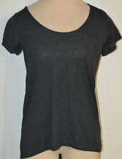 30b8141cd4c Women s Rue 21 Solid Gray Short Sleeve Lightweight Thin Top Juniors S