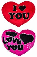 SOFT I LOVE YOU RED HEART CUSHION PILLOW  VALENTINES DAY GIFT SOFA PILLOW HOME
