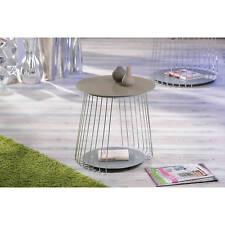 Beistelltisch hochglanz Wohnzimmertisch Wohnzimmer Glas Tisch cappuccino 50 cm