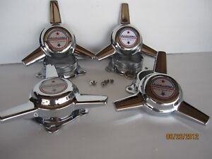4 SPINNERS 3 BARS CAPS AMERICAN RACING  NEW TOR THRUST D WHEELS  2 1/4 HOLE W/AR