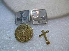 Vintage Lot Lutheran & Cross Brooches, 4, Sunday School, LCW, Sterling