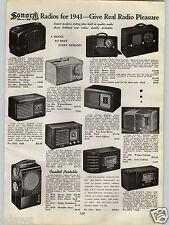 1940 PAPER AD Sonora Radio Radios Teeny Weenies Candid Portable Console Recorder