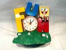 SpongeBob SquarePants Alarm Clock Musical Singing Fun Tek Time 2002 Tested