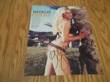 Sexy Natalie Gulbis LPGA Signed 8x10 COLOR MAGAZINE PAGE Photo CELEBRITY SLEUTH