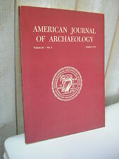 AMERICAN JOURNAL of ARCHAEOLOGY 1979 N°4