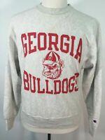 VTG 90s Champion Georgia Bulldog UGA Football NCAA Sweatshirt Small S