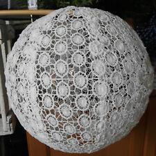 Lochmuster Lampenschirm Weiß Lampion Stoff Laterne 30cm Lampe Rund Japanlampe