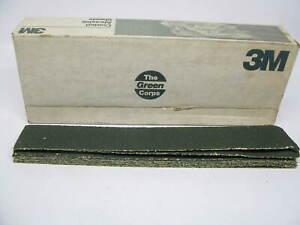 "(12) 3M 051144-02222 Green Corps Abrasive Sheet - 2-3/4"" X 17-1/2"" - 36E"