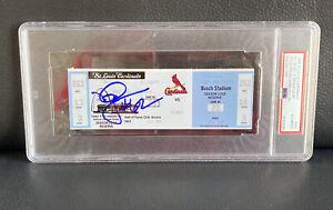 Mark Mcgwire Signed Home Run #62 9/8/98 Ticket Stub Psa DNA Autographed Auto