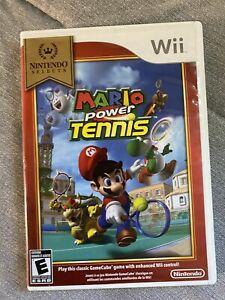 Mario Power Tennis Nintendo Wii CIB Nintendo Selects Clean Complete