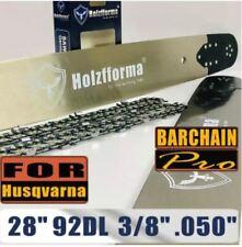 Holzfforma® 28 Inch 3/8 .050 92DL Bar & Full Chisel Chain Combo For Husqvarna
