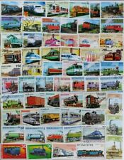 TRAINS, Locomotives marvelous collection of 200 different stamps (lot#DP)