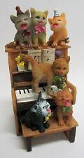 """wunderschöne Spieluhr """" Katzen auf einem Klavier """" Happy Birthday, Party Katze"""