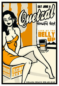 Scrojo Quetzal Forward Funk '02 Poster Belly Up Tavern Solana Beach Quetzal_0206