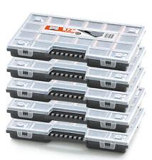 5er Set Sortimentskasten Kleinteile Magazin Organizer Kisten Koffer Sortier Box