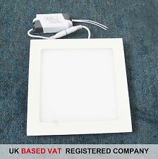 Blanco Cálido Panel LED Luz Cuadrada 15W con UK FACTURA COMPLETA