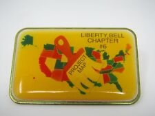 Vintage Collectible Pin: Liberty Bell Chapter #6 Project Map Paintbrush Design