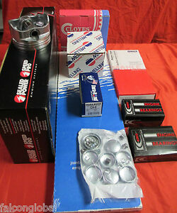 Mercruiser/OMC Chevy Marine 2.5/153 Engine Kit Pistons+Rings+Timing+Oil Pump