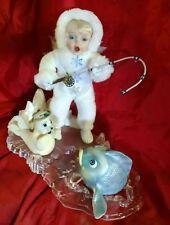 Ashton Drake SNOWBABY Porcelain Doll Catch of the Day #154FA retired 1999 #96506