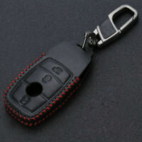 PU Leather Car Key Fob Case Holder cover decor for Mercedes-Benz E Class E300 1X